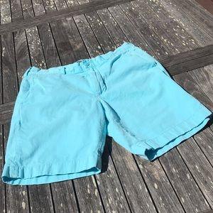 J. Crew Light Turquoise Blue Stanton Shorts 33